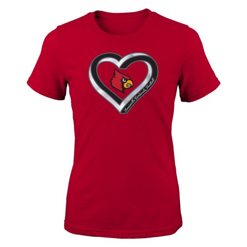 NCAA Girls' University of Louisville Infinite Heart T-shirt - view number 1