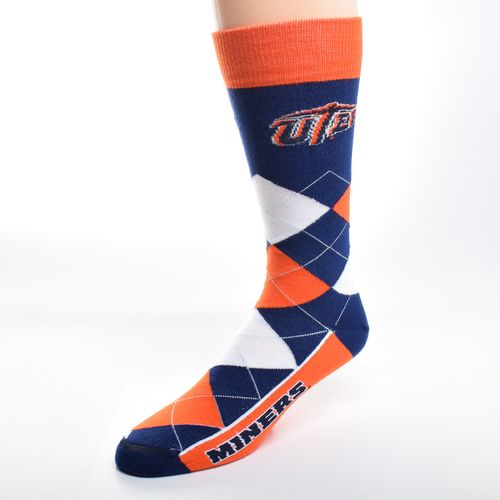 FBF Originals Adults' University of Texas at El Paso Team Pride Flag Top Dress Socks
