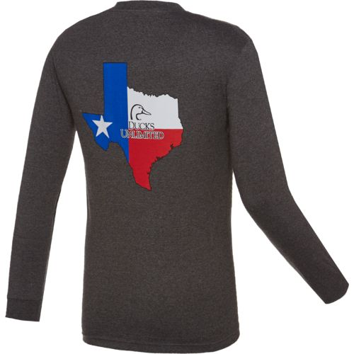 Ducks Unlimited™ Men's Texas Flag Long Sleeve T-shirt