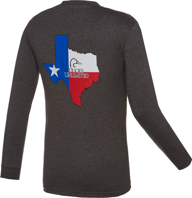 Ducks Unlimited™ Men's Texas Flag Long Sleeve T-shirt