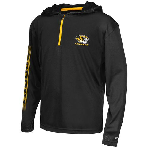 Colosseum Athletics™ Boys' University of Missouri Sleet 1/4 Zip Hoodie Windshirt