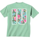 New World Graphics Women's Indiana University Floral Mint T-shirt - view number 1