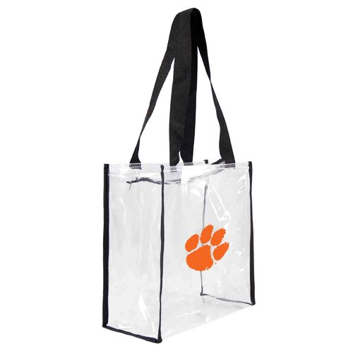 Little Earth Productions Clemson University Clear Square Stadium Tote Bag - view number 1