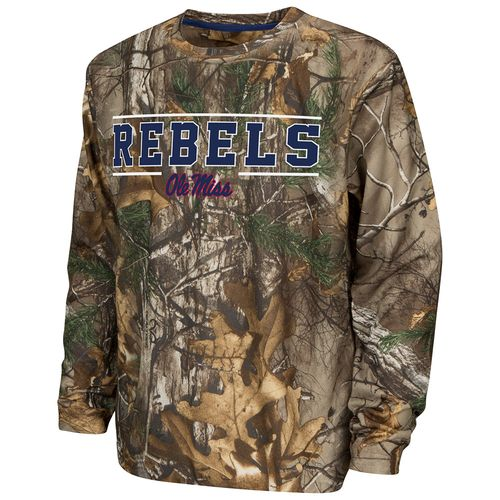 Colosseum Athletics™ Boys' University of Mississippi Pointer Long Sleeve Camo Shirt