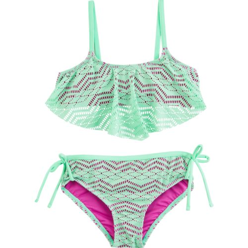 O'Rageous Girls' Art Deco Crochet 2-Piece Bikini