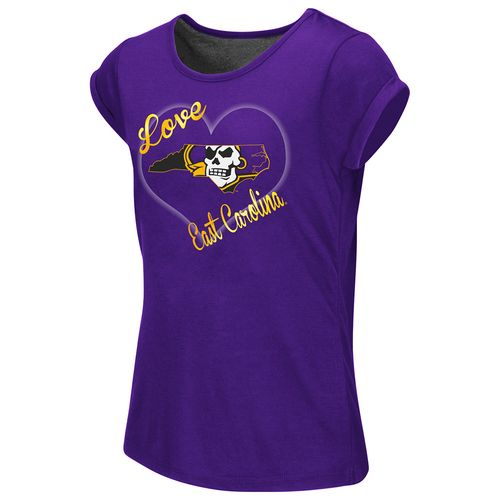Colosseum Athletics™ Girls' East Carolina University Baywatch Split Back T-shirt