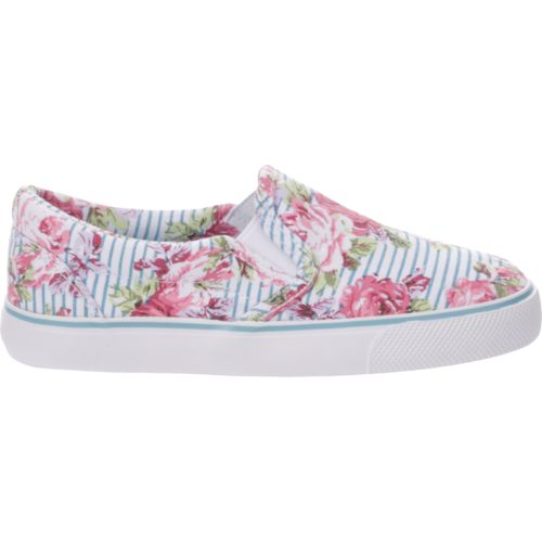 Austin Trading Co. Girls' Ava Floral Stripe Shoes
