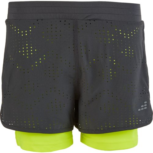 BCG Girls' Laser Cut Twofer Short