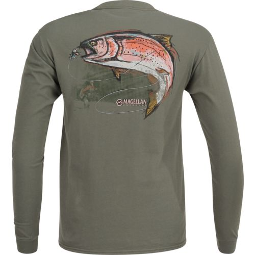 Magellan Outdoors™ Men's Caught A Trout Long Sleeve Pocket T-shirt