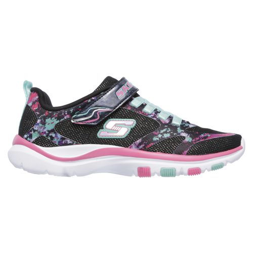 girls white skechers