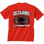 New World Graphics Men's University of Louisiana at Lafayette Football Schedule '17 T-shirt - view number 1