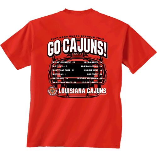New World Graphics Men's University of Louisiana at Lafayette Football Schedule '17 T-shirt