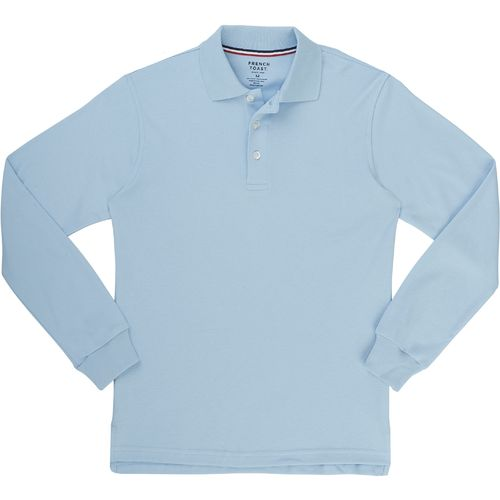 French Toast Boys' Long Sleeve Interlock Polo Uniform Shirt - view number 1