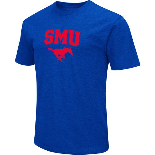 Colosseum Athletics Men's Southern Methodist University Logo Short Sleeve T-shirt