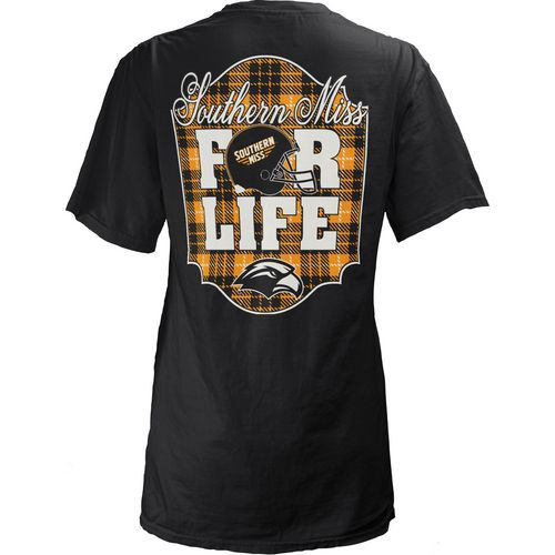 Three Squared Juniors' University of Southern Mississippi Team For Life Short Sleeve V-neck T-sh