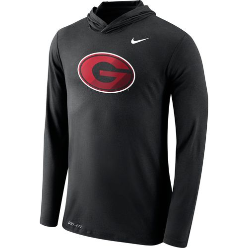 Nike Men's University of Georgia Dri-Blend Long Sleeve Hoodie T-shirt