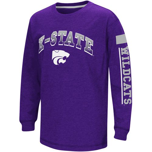 Colosseum Athletics Boys' Kansas State University Grandstand Long Sleeve T-shirt