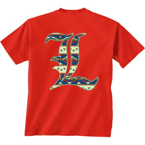 New World Graphics Women's University of Louisville Logo Aztec T-shirt