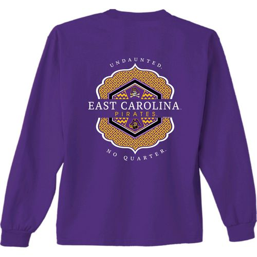 New World Graphics Women's East Carolina University Faux Pocket Long Sleeve T-shirt