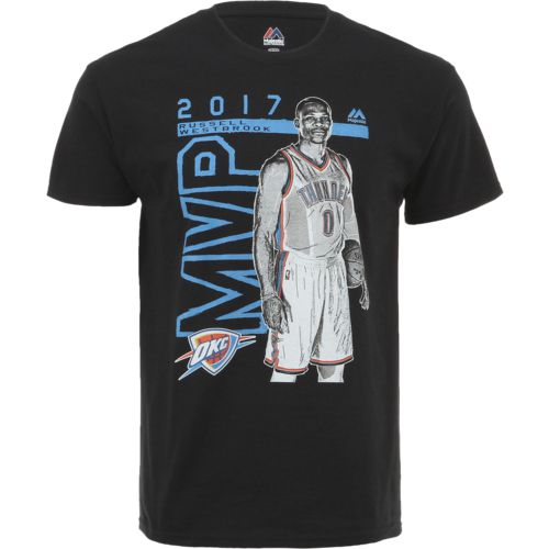 Majestic Men's Oklahoma City Thunder Russell Westbrook MVP T-shirt