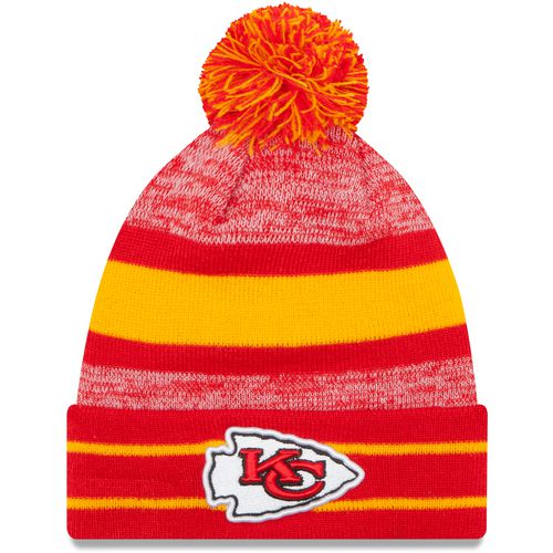 New Era Men's Kansas City Chiefs Cuff Pom Knit