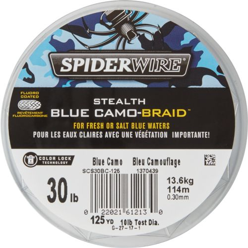 Spiderwire Stealth Blue Camo -125 yards Fishing Line