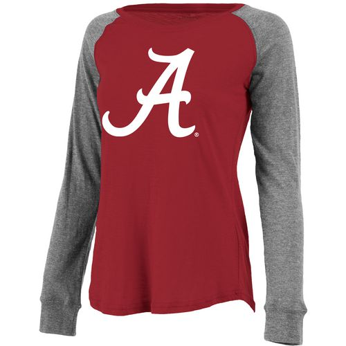Boxercraft Women's University of Alabama Preppy Patch Slub Long Sleeve T-shirt