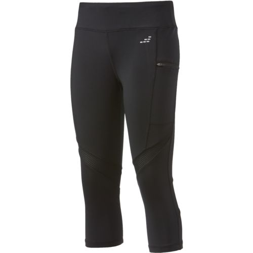 BCG Women's Zipper Pocket Running Capri Pants
