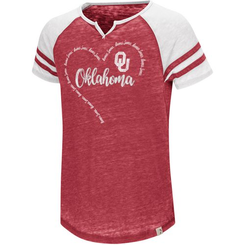Colosseum Athletics Girls' University of Oklahoma The Babe T-shirt