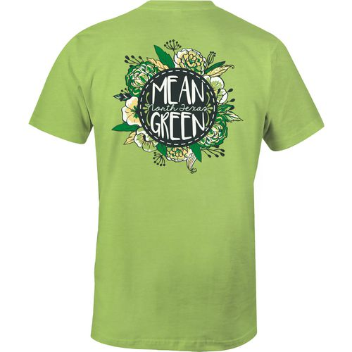 Image One Women's University of North Texas Vintage Floral Comfort Color T-shirt