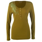 Magellan Outdoors™ Women's Long Sleeve Striped Henley Shirt