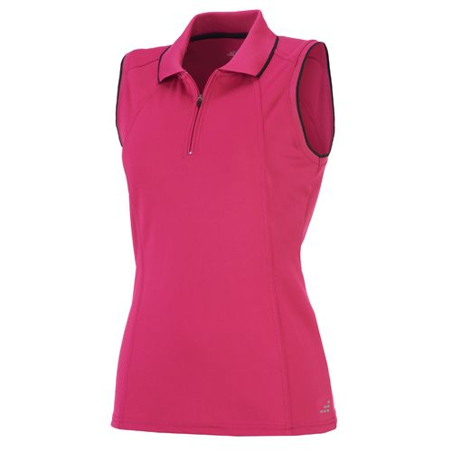 BCG™ Women's Zip Front Piqué Sleeveless Tennis Polo