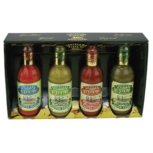Image for Louisiana Gold Pepper Sauces 4-Pack from Academy