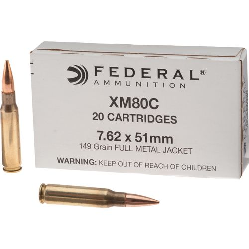 Federal XM80C 7.62 x 51mm 149-Grain Rifle Ammunition