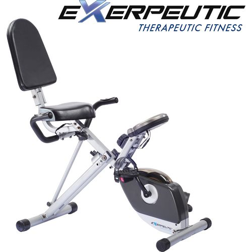 Exerpeutic 400XL Folding Semirecumbent Exercise Bike