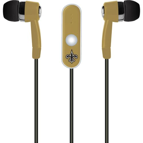 Mizco New Orleans Saints Stereo Hands-Free Earbuds