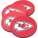The Memory Company Kansas City Chiefs Neoprene Coasters 4-Pack