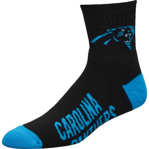 For Bare Feet Men's Carolina Panthers Team Color Quarter Socks
