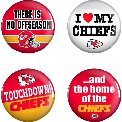WinCraft Kansas City Chiefs Buttons 4-Pack