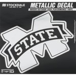 "Stockdale Mississippi State University 6"" x 6"" Metallic Vinyl Die-Cut Decal"