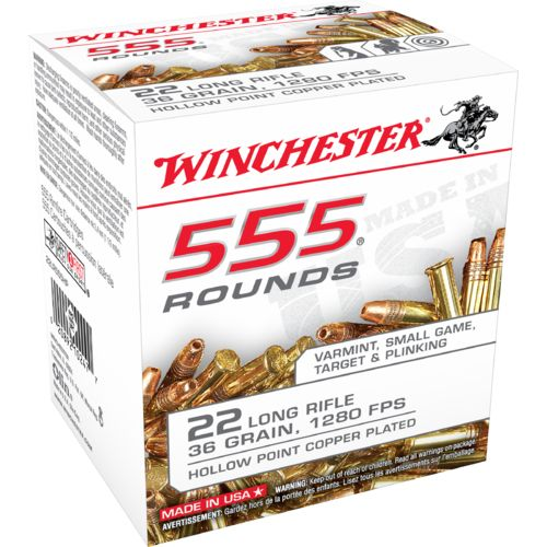Display product reviews for Winchester .22 LR 36-Grain LHP Rimfire Rifle Ammunition