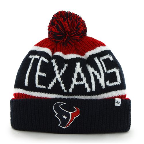 '47 Adults' Houston Texans Calgary Cuff Knit Cap with Pom