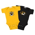 Atlanta Hosiery Company Infants' University of Missouri Lap Shoulder Creepers 2-Pack