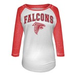 5th & Ocean Clothing Juniors' Atlanta Falcons Burnout M2O 3/4 Sleeve T-shirt