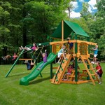 Gorilla Playsets™ Chateau Swing Set with Timber Shield™ and Deluxe Vinyl Canopy - view number 2