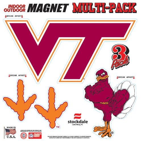 Stockdale Virginia Tech Magnets Multipack