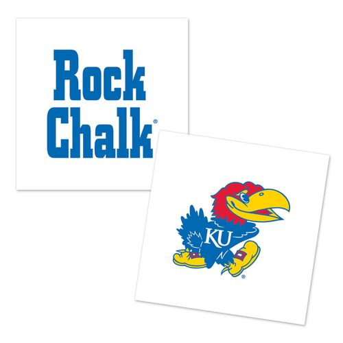 WinCraft University of Kansas Temporary Tattoos 4-Pack