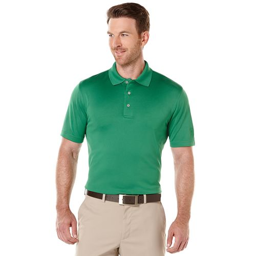 PGA TOUR Men's Airflux Solid Performance Polo Shirt