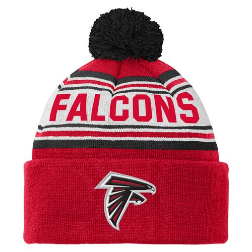 NFL Kids' Atlanta Falcons Cuffed Knit Cap with Pom