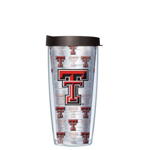 Signature Tumblers Texas Tech University 16 oz. Repeated Pattern Traveler Insulated Tumbler